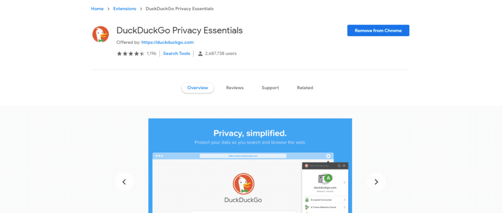 duckduckgo privacy essentials optomita